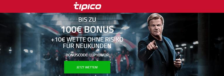 Tipico Gutscheine mit und ohne Bonuscode
