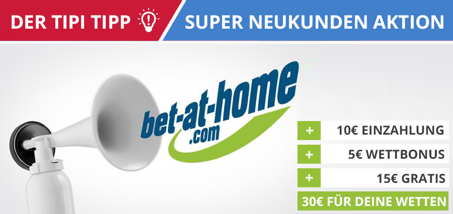 15€ bet at home Gutschein